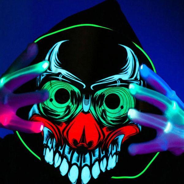 2018 New 80g Halloween Máscaras de Cosplay Assustador Fantasia Traje Cosplay Máscaras Levou PVC + Material de Algodão 25 cm * 22 cm