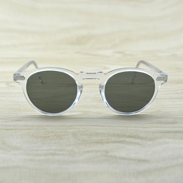 Gregory Peck Marca diseñador de los hombres gafas de sol de las mujeres de la vendimia gafas de sol polarizadas Gafas de sol retro OV5186 OV 5186