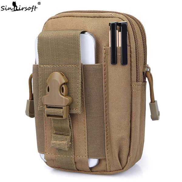 Tactical Multi-Purpose Waist Bag Phone Wallet Pack Militar Camo EDC Bum Bag Tool Pouch Nylon Cinturón Bolsa Bolsa Camping Senderismo bolsillo fannypack