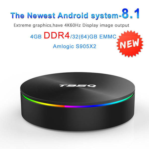 t95q android 8.1 tv box amlogic s905x2 ddr4 4gb 32gb/64gb 2.4g 5ghz dual wifi bluetooth 4k set box vs x96 max