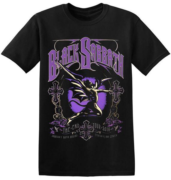 Black Sabbath T Shirt Cool Black Retro Old Classic Heavy Rock Band Tees 1-A-101 2018 camiseta divertida 100% algodón genial camiseta encantadora de verano