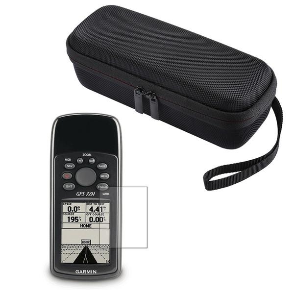 vendita all'ingrosso Custodia nera portatile EVA viaggio + Pellicola proteggi schermo LCD per Garmin GPS 72H Accessori