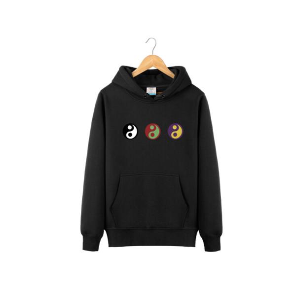 Men Women Clothing Gosha Yin Yang Printed Hoodies Spring Casual Male Female Athletic Pullovers Sweatshirts Hooded Tops