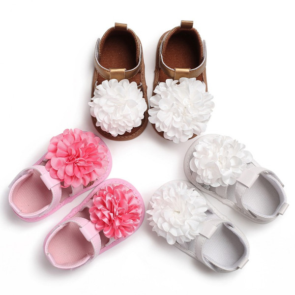 New Listing Baby Shoes Baby Sandals 2018 Summer Newborn Cute Flower Breathable Sandals Infant Girls Princess Shoes 0-18M S1