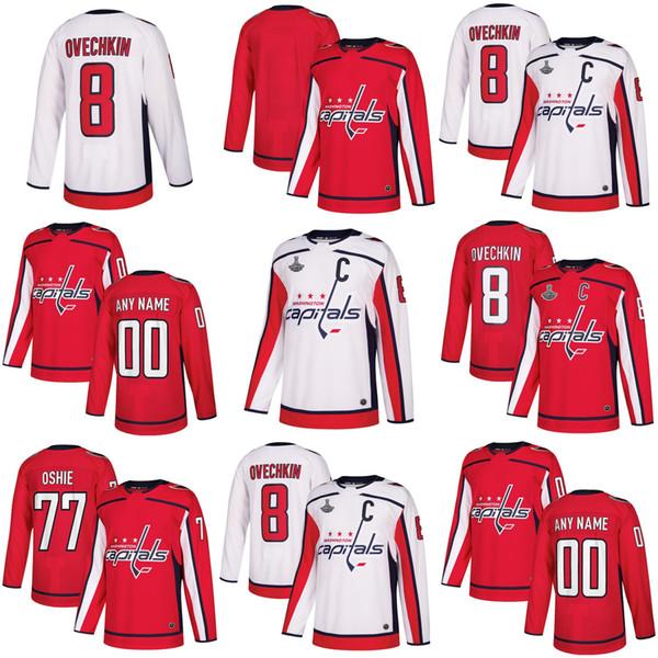 Mens Womens Kids Youth Custom Blank Washington Capitals 70 Braden Holtby 8 Alex Ovechkin 19 Nicklas Backstrom 77 T.J. Oshie Hockey Jerseys