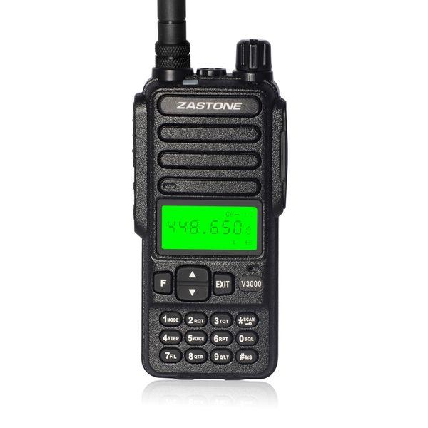 Zastone V3000 UHF 400-480HMz Walkie Talkie Radio transmisor portátil Comunicater