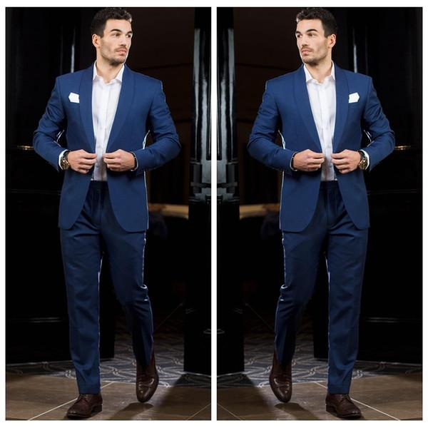 2018 Vintage Formal Business Men Suits For Wedding Slim Fit ...