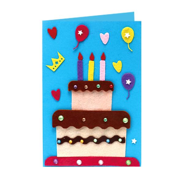 Funny Handmade Greeting Cards Children Diy Christmas Thanksgiving Teachers Birthday Day New Year Gift Kindergarten 3d Card Kits 5 Styles Custom