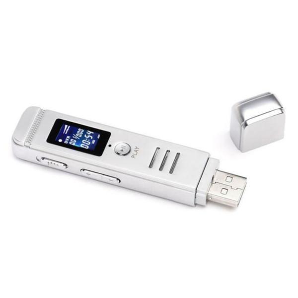 Gizli Ses Kaydedici 8 GB USB LCD Ekran Dijital Ses Kaydedici kulaklık MP3 Çalar Walkman Hifi Mp3 Çalar @tw