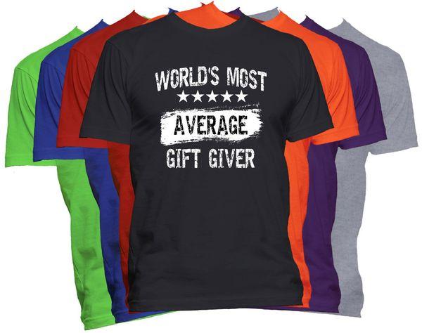 Самый средний подарок в мире даритель футболка смешная карьера работа профессия футболка мужчины мальчик хип-хоп с коротким рукавом хлопок пользовательские 3XL семейные футболки