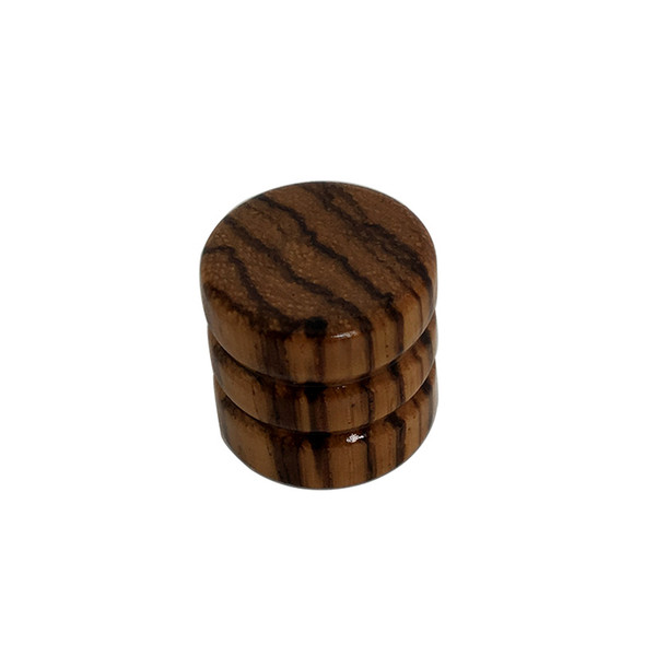 Zebra wood knob for electric guitar bass Barrel flat top Tone Volume control Konbs In Stock