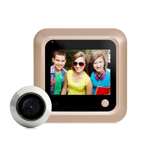 """DANMINI New 2.4"""" LCD Color Screen Electronic Door Bell Digital Peephole Viewer Door Camera Video Doorbell Home Security Camera"""