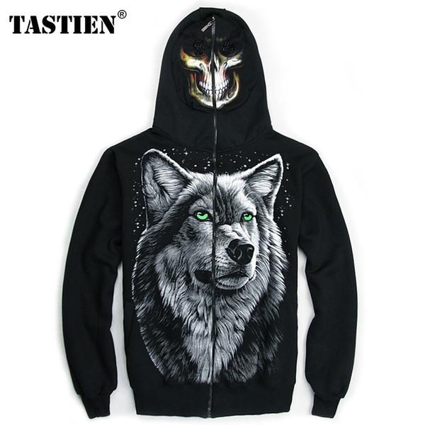Newest spring Mens Luminous Wolf Jacket Sweatshirts zip up hoodie Zipper Coat