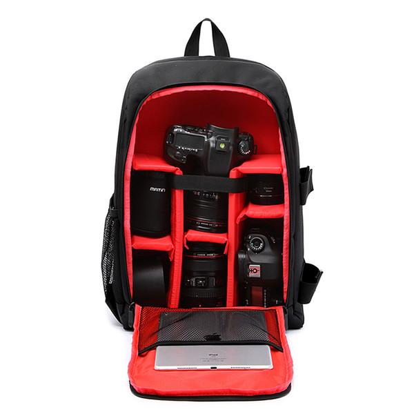 DSLR Sac À Dos Caméra Vidéo Sac Antichoc Résistant À L'eau Photographie Rembourré pour Nikon Canon Sony DSLR Appareil Photo Objectifs Accessoires