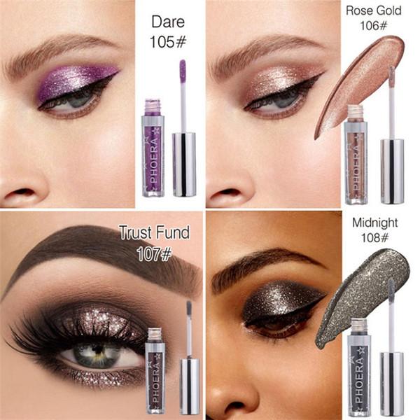 New Makeup Phoera Liquid Glitter Glow Eyeshadow Highlighter