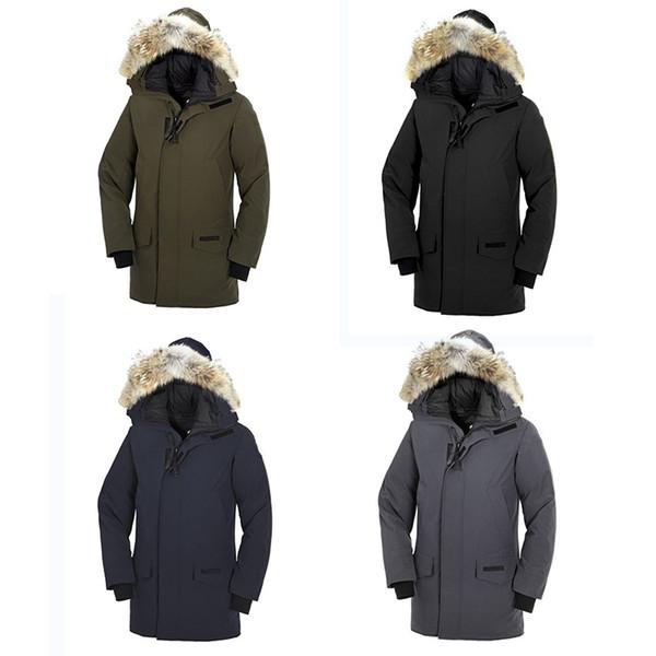 Luxus unten Kanada berühmte Outdoor-Sportmarke Gänse unten 90% Mann dicke Oberbekleidung t Parka Winter warme dicke Daunenjacke mit Kapuze warm