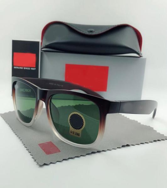 lunettes de soleil de qualité réelle 4165 justin modèle lentilles polarisées homme femme avec étuis en cuir d'origine, accessoires boîte en argent gris