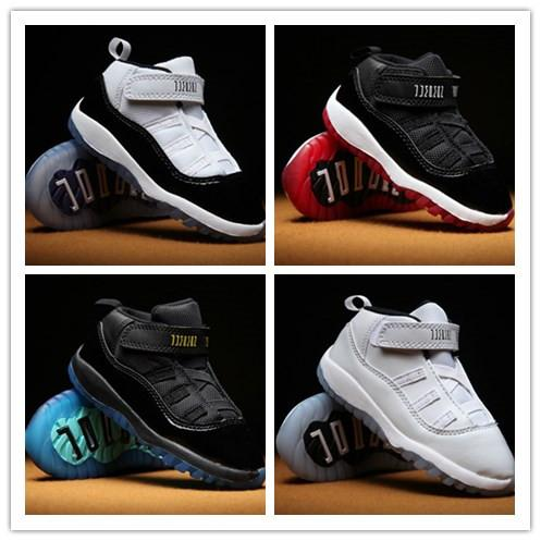 Baby kid 11 XI Space Jam Shoes Little Baby Boys Girls Toddlers 11s Gamma Concord Bred Pre-Walker Sneaker taglia 6C-10C