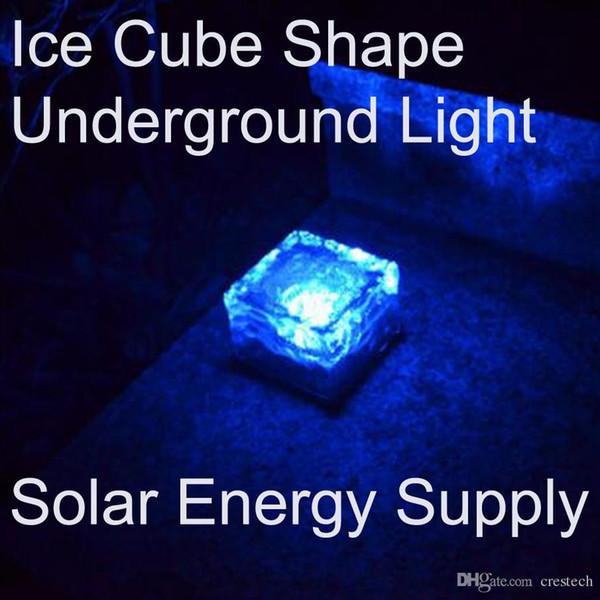 Garden lamp LED Solar landscape lights Free shipping DHL Ice cube LED Solar energy underground solar lights underground lamp lighting sensor
