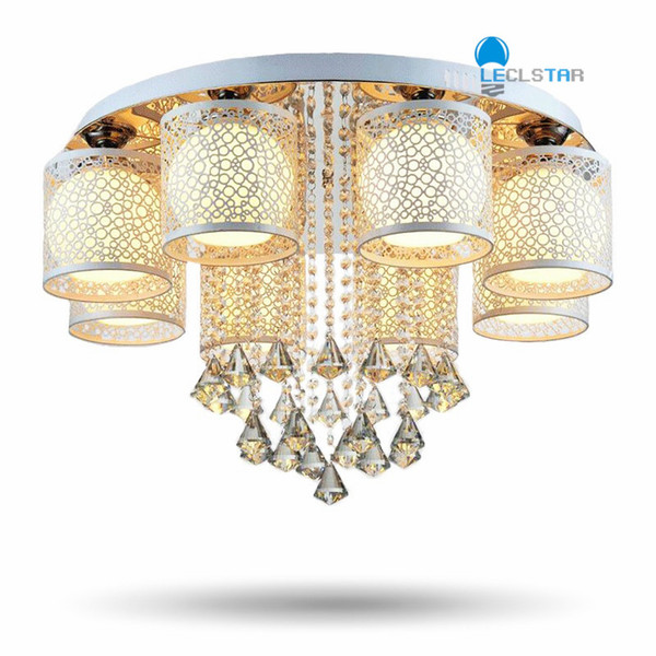 New Crystal ceiling Pendant Lamps Living room bedroom restaurant home / commercial lighting Led chandelier AC 90-260V