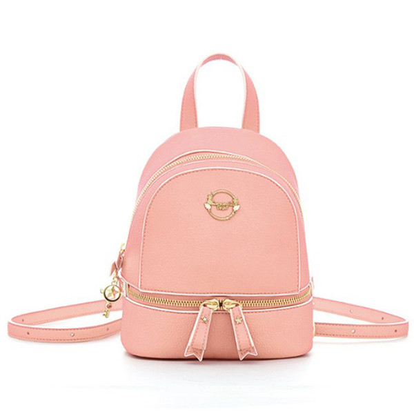 2017 New Samantha Vega Bag Cardcaptor Sakura Magical Girl Clow Card Min Backpack Cute School Bags Sailor Moon Pink/Red Backpack