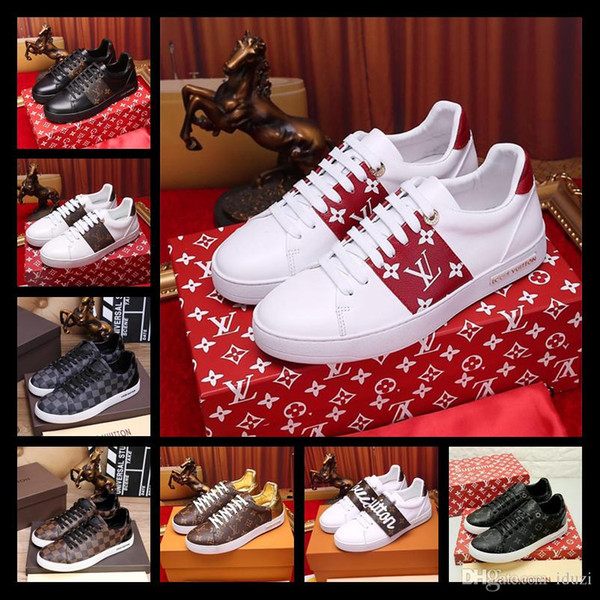 58da4804f78 Best Brand New mens shoes designer real leather low top lace up with studs  sneakers fusain