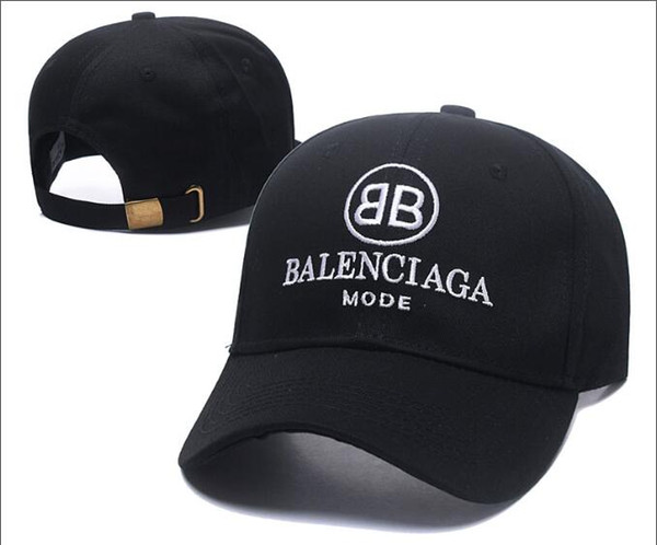 2018 BNIB vague cola logo 17FW Homme Dames Hommes Unisexe Rouge Casquettes de baseball blanc strapback noir vie matière broderie lettre Chapeau casquette