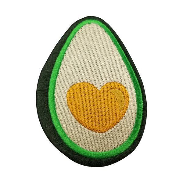 Avocado Embroidered Patches For Clothing Cartoon Fashion Decoration Iron On Patches Kids DIY Cute Sewing Embroidered Parches For Clothing