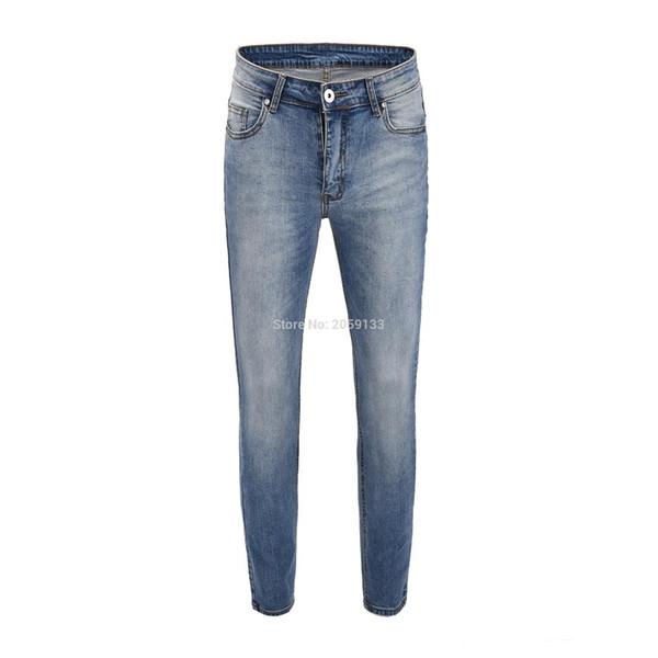 2019SS Meilleure version Justin Bieber Mode Hip Hop Hommes Jeans Biker Street Stretch Jeans Bleu 30-36