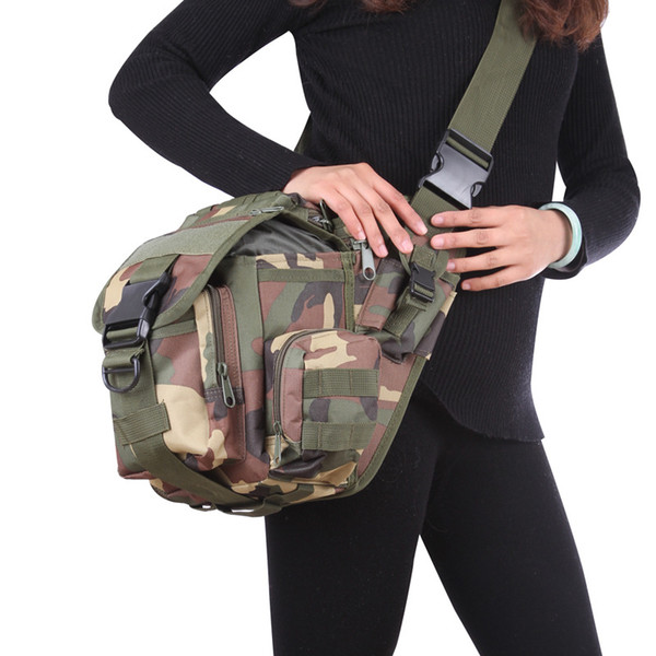 Camera Pockets Military Enthusiasts Tactical Saddle Bag Outdoor Leisure One Shoulder Slung Backpack