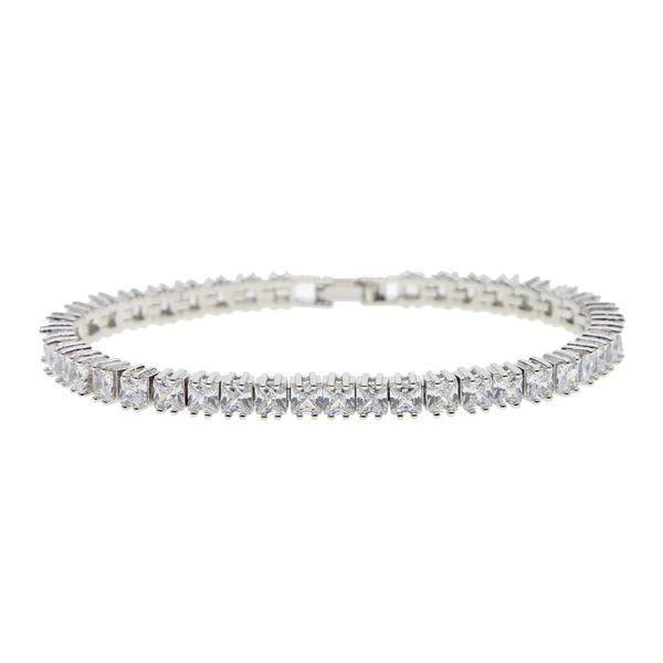 moda sqaure cz pavimentato tennis braccialetto braccialetto per gli uomini gioielli hip hop ghiacciato mens catena da tennis braccialetto per gli uomini