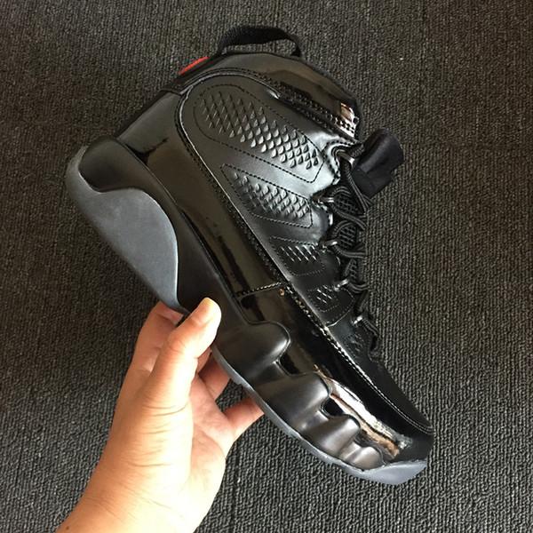 En gros Nouveau 9 IX élevé noir rouge en cuir verni Hommes Basketball Chaussures Sport Sneakers Haute Qualité Avec la boîte Taille 7-13