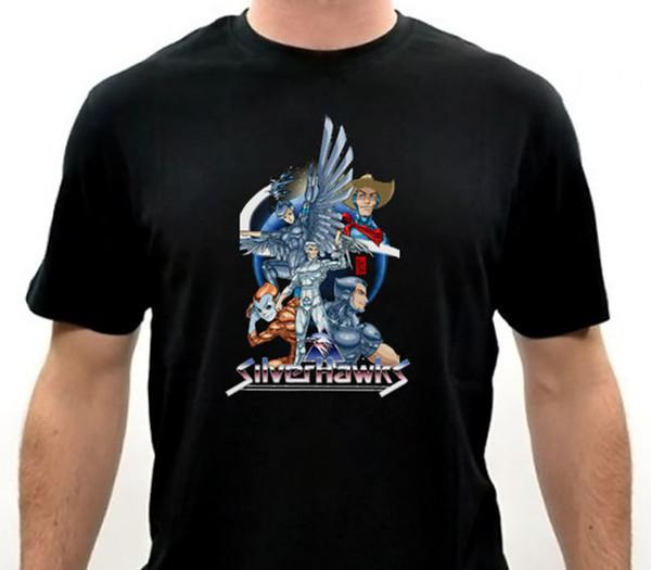 Order T Shirts Short Sleeve Men Printing Silver Hawk O-Neck Shirt