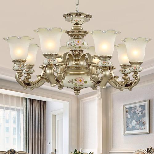 Pendant lamps North European pendant chandelier light elegant luxury classic American royal fancy led pendant lighting for living room