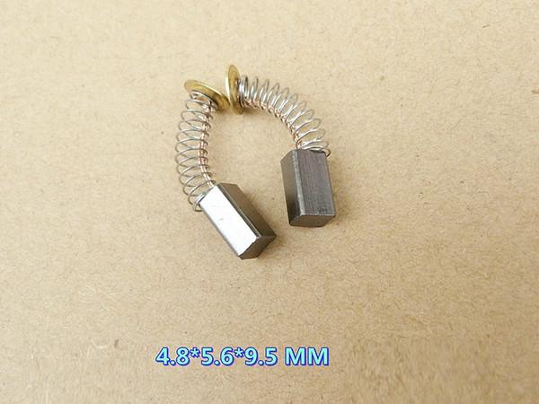 50 Pz / set 25 paia 4.8 * 5.6 * 9.5 MM Spazzole di carbone per generica parte di riparazione del motore elettrico o trapano elettrico