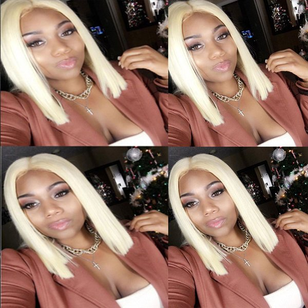 613 Wig Human Hair Bob Wigs Full Lace Blonde Wigs Can Be Dyed Short Cut Bob Natural Straight 8''-18''