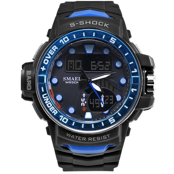 SMAEL Watch Men LED Digital Sport Watch for Man Clock S 1626 Men's Wristwatch Big Dial Waterproof Orange Sports Watches