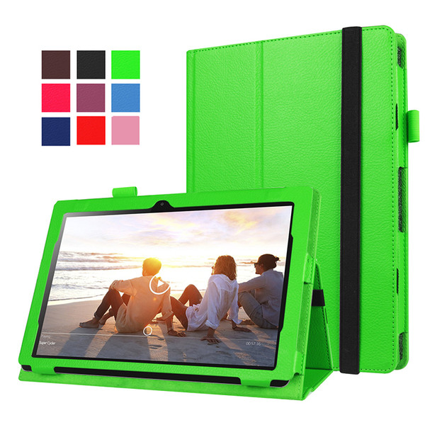"""2 Folding Litchi Leather Case(support put keyboard) for Lenovo Ideapad Miix 310 10.1"""" Tablet+Stylus"""