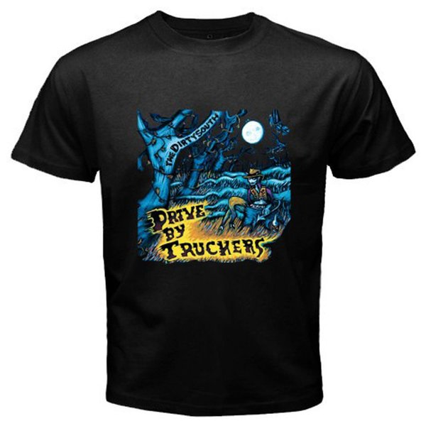 2018 Short Sleeve Cotton T Shirts Man Clothing New Drive By Truckers The Dirty South Rock Band Men's Black T-Shirt Sizes S To 3X