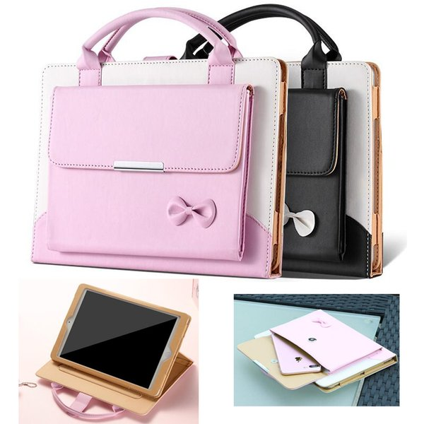 Handbag PU Leather Case For Apple 2018 Ipad Mini Air Pro 1 2 3 4 5 6 Pro Luxury Housing Auto Smart cover Flip Cover Holder GSZ379