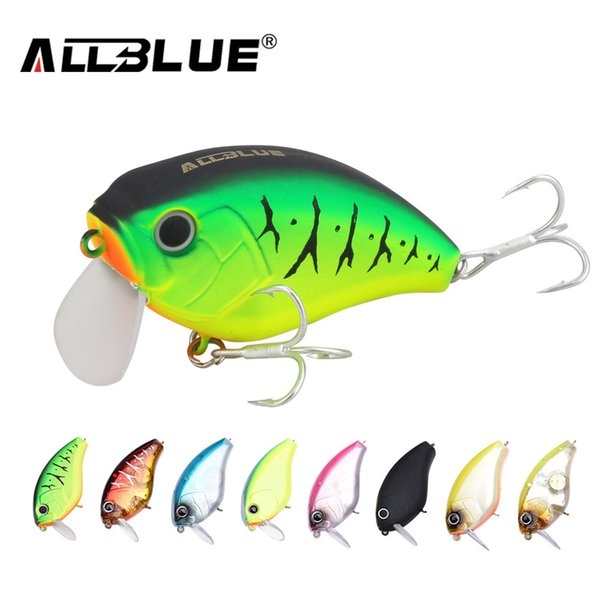 ALLBLUE Floating Shallow Diving Crankbait Fishing Lures 17g/60mm Lifelike Wobblers With 6# Hooks isca artificial peche Y18100806