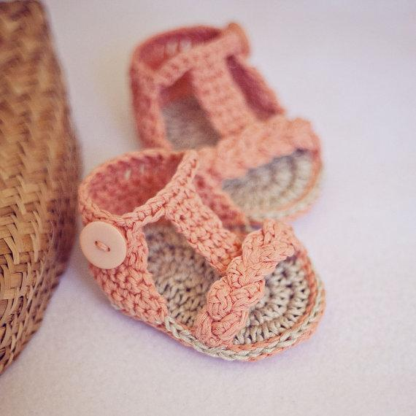sandali bambino Gladiatore sandali, sandali fatti a mano in maglia per ragazze nuovi Cute Crochet Crochet 0-12month