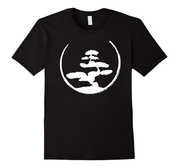 Bonsai Ağacı T-Shirt-Zen Budist Japon Bahçe Tee Komik Rahat Marka Üst Yüksek Kaliteli Adam için Daha Iyi T Gömlek Sıcak Satış