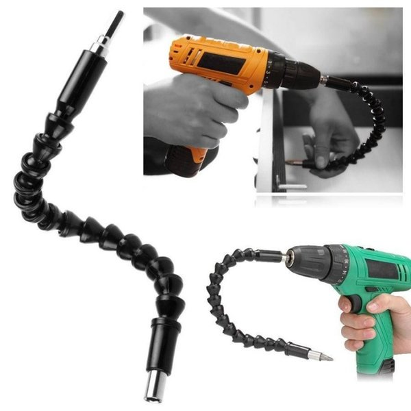 100pcs Black 290mm Flexible Shaft Bits Extention Screwdriver Bit Holder Connect Link For Electronics Drill fast ship