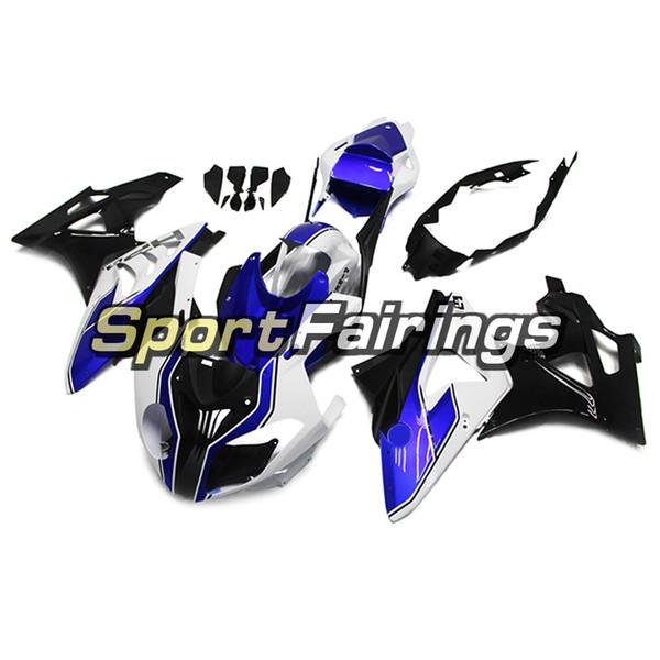 Carene complete per BMW S1000RR Anno 11 12 13 14 2011 - 2014 Sportbike Plastica ABS Kit carenatura aftermarket HP4 Scafi blu bianchi