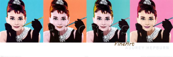 handmade good quality audrey hepburn painting hanging on wall pop art wall décor wood wall art whole set living room decoration