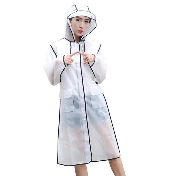 Simple Raincoat Woman Men 4 Colors Impermeable Fashion EVA Plastic Adjustable Rainwear For Outdoor Hiking Activity