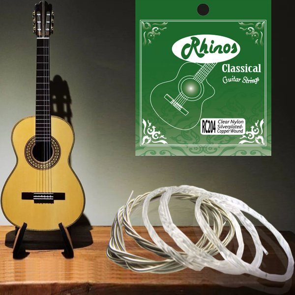 top popular Rhinos RC204H Classical Guitar String Silver-plated Copper Wound .0285-.044 2019