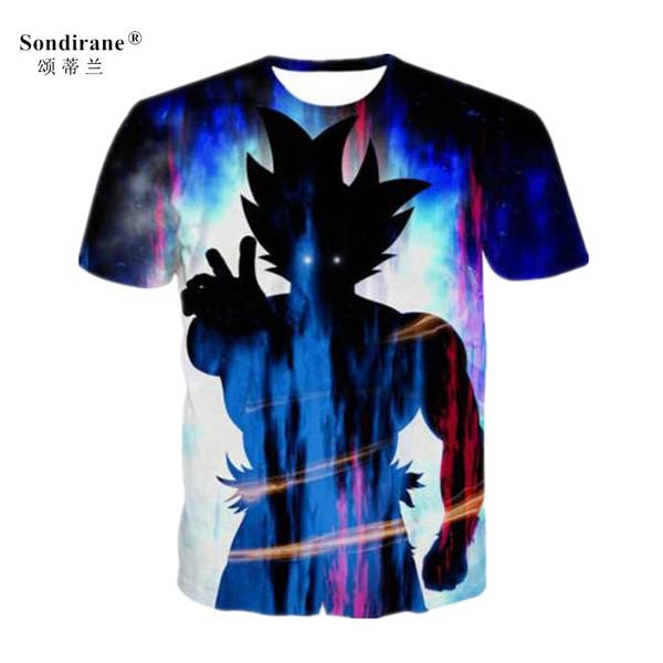 Newest Women Men Gradient Dragon Ball Cartoon 3D Print T Shirt Fashion Short Sleeve Hip Hop Tops Summer Quick Dry Tees
