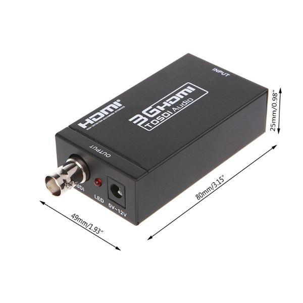 Audio coaxial del adaptador 3G del escalador del convertidor de HDMI a SDI para la PC del cine del cine en casa
